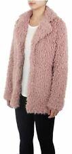 New Womens Gabriel Designer Super Soft Fluffy Coat Lined Faux Fur Jacket 18-24