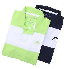 Aeropostale Men Stripe Logo A87 Jersey Polo Shirt style 4146 $0 Free Shipping
