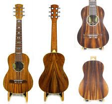 Alulu Solid Acacia Koa Baritone Guitarlele Dots Inlay Hard Case HU1472-1526