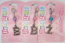 Bead Girl Clip On Charm Letter Diamontes Nickle Beads Jewellery Bling Beadgirl