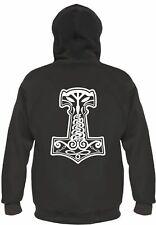 THOR Martello Mjolnir con cappuccio Giacca schiena pressione bianco Asgard THOR Wotan