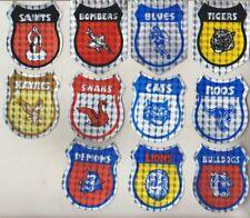 1970/80s ORIGINAL  AFL TEAM BUMBER SHIELD STICKERS  COLLECTORS  Size :7cm x 6cm
