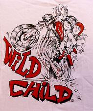 Wild Child logo-Biker Slogan Babywear Baby Biker Babygrow rosa-svendita
