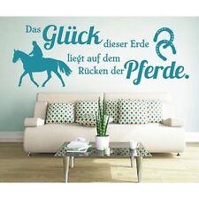 Wandtattoo Spruch  Glück dieser Erde Rücken Pferde Wandaufkleber Wandsticker 4