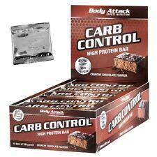 (23,27 Euro/Kg) Carb Control Riegel 15 x 100g von Body Attack + Produktprobe