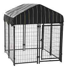 Lucky Dog CL 60445 Pet Resort Steel Dog Kennel, Lockable, 52 x 48 x 48-In. -