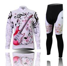 XINTOWN Women's Cycling Clothing Long Sleeve Bike Jerseys Sets+Bib Pants Sets