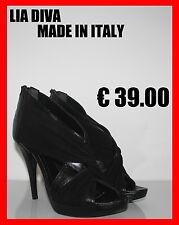 TRONCHETTI DONNA SANDALI Decoltè IN PELLE MADE IN ITALY 37 38 39 40  PLATEAU