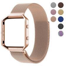 Metal Frame Milanese Loop Stainless Steel Bracelet Strap Band for Fitbit Blaze