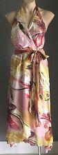 NWT F GEAR Multi Coloured Tropical Print Halter Neck Dress Sizes 10 & 12