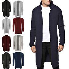 Nuevo Para Hombres Diseñador Cuello Chal Abierto Cárdigan Suéter Jumper de punto Prendas de abrigo pesado