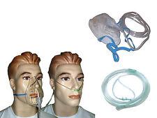50 Notfall Sauerstoffmaske mit Reservoir f. hohe Konzentration, Sauerstoffbrille