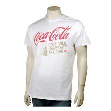 COCA-COLA COKE EE.UU. Camiseta Blanco - logo + MANO CON BOTELLA - University