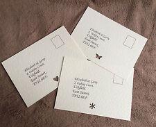 Personalised RSVP cards- Weddings