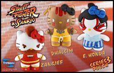 Hello Kitty Street Fighter Series 3  plush - Zanghief, Dhalsim, E. Honda - Rare
