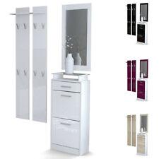 Garderobe Meubles d'entrée Loret V2 Mini en Blanc - Façades en coloris divers