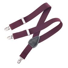 Childrens Toddlers Elastic Adjustable Suspender Burgandy Kids Suspenders