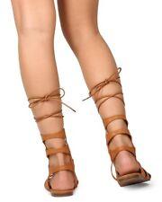 New Women Betani Pocahontas-7 Leatherette Gilly Tie Wrap Gladiator Sandal Size