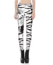 Hot Sale  legging White Tiger Printed elastic leggings S-4XL Legging 505