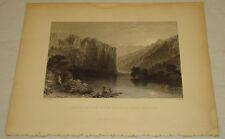 1836 Antique Print/SCENE ON RIVER ORONTES, NEAR SUADEAN, SYRIA