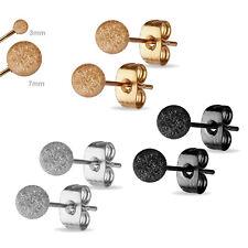 1 Pair Ear Studs Stainless Steel Earrings Glitter Balls Diamond-Cut Ball Z514