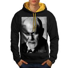 Sigmund Freud Art Men Contrast Hoodie NEW | Wellcoda