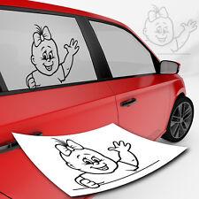 Baby Autoaufkleber für Seitenscheibe Kind Kinderaufkleber Auto Sticker Mädchen