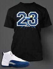 T shirt to match  Air Jordan 12 French Blue Cocktail on Black Pro Club Tee Shirt