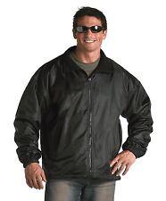Black Fleece Lined Nylon Jacket Reversible - Waterproof Outer Shell / S-3XL