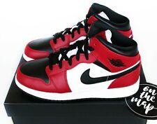 Nike Air Jordan 1 Retro Mid Chicago Toe Red White Black UK 3 4 5 6 7 8 9 10 US