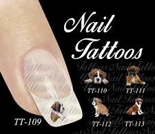 Nail Art Boxer Welpe Tattoo  Süß Hund Tiere  Motiv Auswahl TT-115a