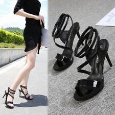 Black Drag Queen Sandals Strappy Mens Heels Crossdresser Cut Out Women Shoes
