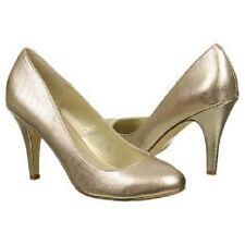 Fergalicious Women's Utopia Gold Metallic Heel Shoes - Size 6.5