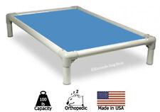 Kuranda Indoor/Outdoor Dog Bed - Almond Frame - Cordura Fabric - Carolina Blue
