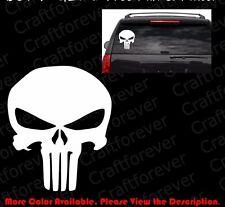 From USA- PUNISHER SKULL Phone/JDM Car/Window/laptop Vinyl Decal Sticker SK001