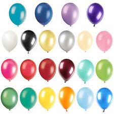 100 Metallic PLAIN BALONS BALLONS helium NEW BALLOONS Quality Birthday Wedding