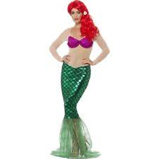 Mermaid Damenkostüm Kostüm Meerjungfrau Meerjungfrauenkostüm Damen Nixe