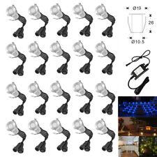 20pcs/set 19mm 12V Outdoor Stair Plinth Garden Recessed LED Decking Step Lights