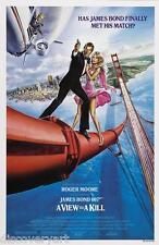 James Bond 007-una vista para matar a una película Póster De Lona Pared Arte Impresión Roger Moore