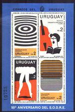 URUGUAY 1980 ARTS MUSIC,RADIO,DANCE, S/SHEET BL Yv 34 Mi 47 MNH