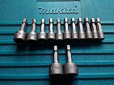 NEW GENUINE MAKITA Hex Tek Screw Nut Bolt Driver Sets Universal Bosch Heavy Duty