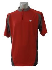 Wilson Men Half-Zip Shirt - Laufshirt - Sportshirt - Red - Größe L - WMP1102C