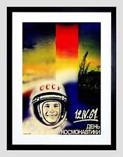 Programa espacial soviético de propaganda política Gagarin héroe impresión arte enmarcado B12X5764