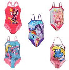 Girls My Little Pony Disney Smurfs swimwear swimming costume age 3-10 BIG SALE