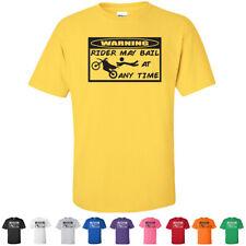 WARNING Rider May Bail at Any Time Funny Youth LOL Motocross Kids T-Shirts