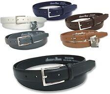 """Homme Ashford ridge cuir costume ceinture 32 - 60 """"noir marron tan navy gris blanc"""
