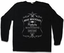 Shay MOUNTAIN MOONSHINE Manica lunga T-shirt Farrell LOGO Outsiders Wine Simbolo Sign