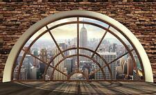 Fototapete Tapete Wandbild Vlies F01055 New York Fensterroseblick #GESCHENK GRAT