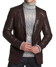 Brand New Men's Genuine soft Lambskin Leather Blazer Jacket Designer Coat TB22
