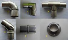 Edelstahl Steckfittings für Rund Rohr V2A Verbinder VA Fitting Klebefitting